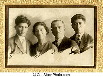 Old photo - A vintage photo portrait from 1957 of Armenian...