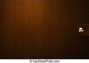 Old photo album cover brown