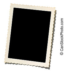 A blank photo. Put your image inside black area.
