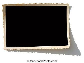 Old Photo Border - Blank photo. Put your image inside black...