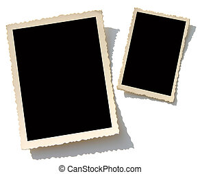 Old Photo Border - Blank photos. Put your image inside black...