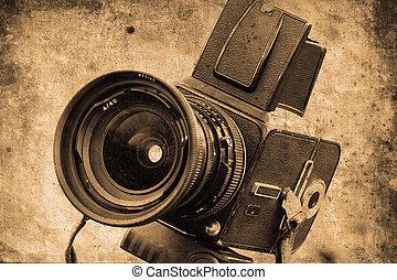 photo camera - old photo camera in retro design look