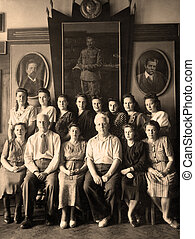 Old photo - Group of graduates of the Institute ,circa 1950