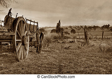 old photo of wagon