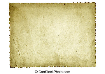 Old Photo Paper - Old photo paper, with scalloped edge.