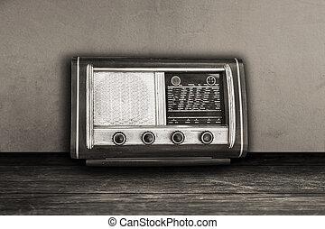 Old photo Vintage fashioned radio