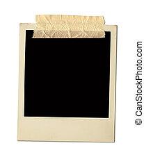 Old Polaroid Frame Isolated On White