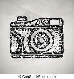 old photocamera icon