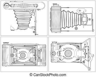 Old Photographic Camera Vecto...