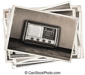Old photos Vintage fashioned radio