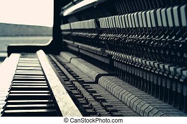 Old piano retro style