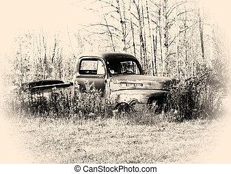 Old Pickup Truck - old pickup truck body in the junk yard