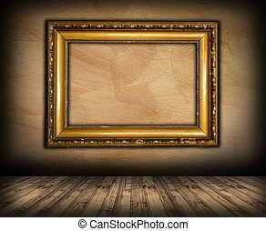 old picture frame on interior background