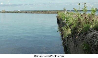 old pier breakwater seascape
