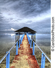 Old Pier - HDR of an old pier in Palawan Philippines