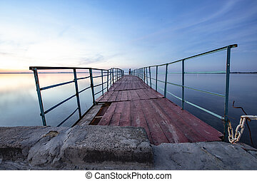 old pier on the sea