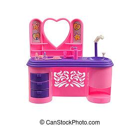 Old pink handbasin toy