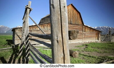Old Pioneer Barn - John Moulton barn on Mormon Row, Grand...