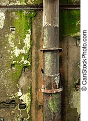 Old pipes on wall