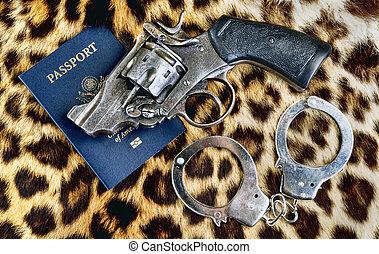 Old Pistol and Passport.