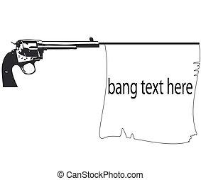 old pistol with flag gun banner - old pistol with flag gun...