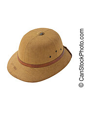 3c4f2e2beabd1 Classic cork pith helmet. perspective view. equipment for safari or ...
