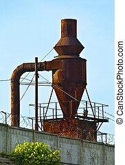 old plant - rusty industrial device