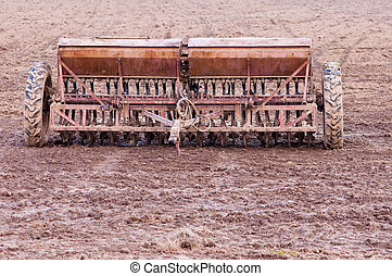 old planter in the field