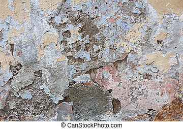 Old plastered wall abstract - Old vintage painted plastered...