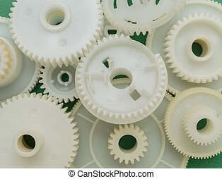 Old plastic gears