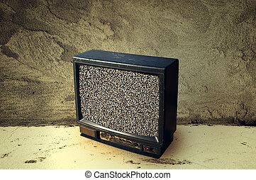 Old plastic TV