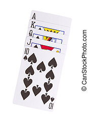 Old playing cards (royal flush)