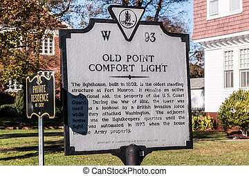 Old Point Comfort Lighthouse Sign