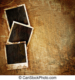 Polaroid frame on grunge - old Polaroid frame on grunge...