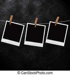 Old Polaroid photo template - Old Polaroid film blanks...