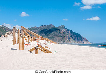Old police station at Hout Bay reclaimed by sand dunes