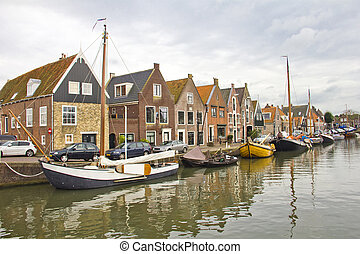 Old port in Monnickendam, The Nethe