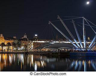 Old port of Genova by night