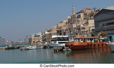 Old port of Jaffa in Tel Aviv Israel - TEL AVIV, ISR - MAR...