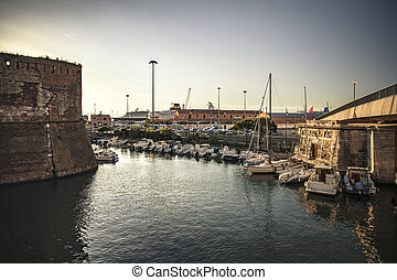 Old Port of Livorno during Sunset #6