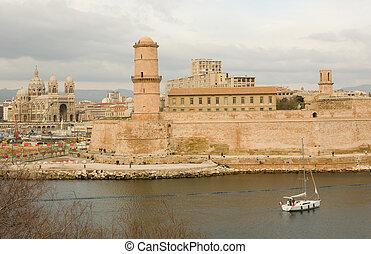 Old port (Vieux Port) in Marseille, France