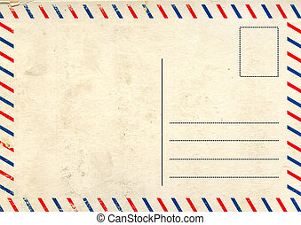 Old post card - Grunge background with retro post card ...