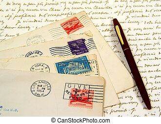 Old Postage - Photo of of Postage and Envelopes.