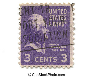 old postage stamp from USA 3 cent