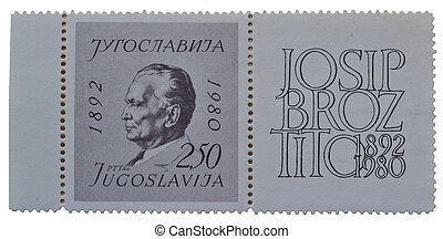 Old postage stamp Tito - Old Yugoslavian postage stamp Tito