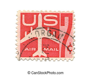Old postage stamps from USA