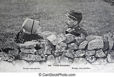 old postcard, Creuse