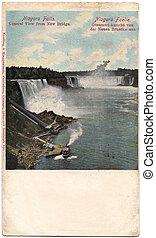 Old postcard from Niagara Falls