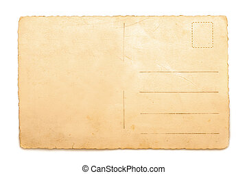 Postcard - Old Postcard isolated on white