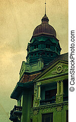 Old postcard of one historical building. Timisoara 1